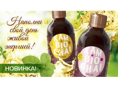 Новинка - ферментированный напиток комбуча. «KamBioChai».